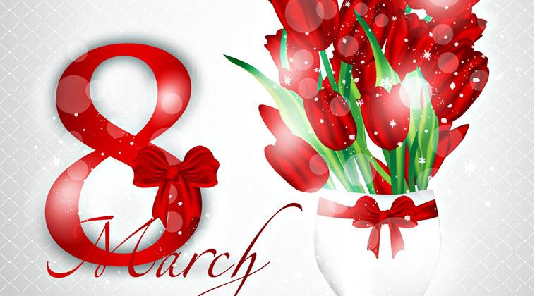 Красивые короткие поздравления с 8 Марта для женщин