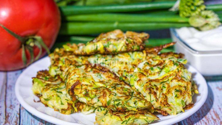 Оладьи из кабачков с чесноком — рецепт